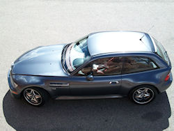 2002 BMW M Coupe in Steel Gray Metallic over Imola Red & Black Nappa - Sunroof-Delete Roof