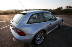 1999 BMW M Coupe in Arctic Silver Metallic over Imola Red & Black Nappa