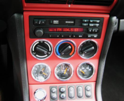 1999 BMW M Coupe in Arctic Silver Metallic over Imola Red & Black Nappa - Center Console