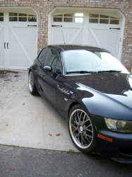 1999 BMW M Coupe in Cosmos Black Metallic over Dark Beige Oregon - Side