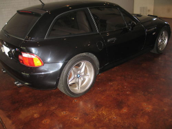 1999 BMW M Coupe in Cosmos Black Metallic over Dark Beige Oregon - Rear 3/4