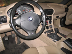 1999 BMW M Coupe in Cosmos Black Metallic over Dark Beige Oregon - Interior