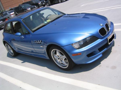 1999 BMW M Coupe in Estoril Blue Metallic over Dark Beige Oregon - Front 3/4