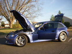 1999 BMW M Coupe in Estoril Blue Metallic over Estoril Blue & Black Nappa - Side