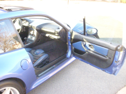 1999 BMW M Coupe in Estoril Blue Metallic over Estoril Blue & Black Nappa - Side Detail
