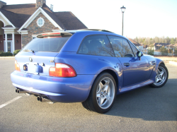 1999 BMW M Coupe in Estoril Blue Metallic over Estoril Blue & Black Nappa - Rear 3/4