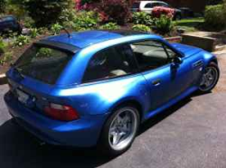 1999 BMW M Coupe in Estoril Blue Metallic over Dark Beige Oregon - Rear 3/4