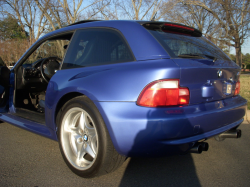 1999 BMW M Coupe in Estoril Blue Metallic over Estoril Blue & Black Nappa - Back
