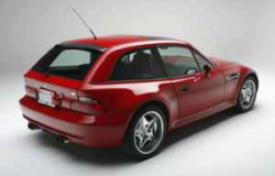 1999 BMW M Coupe in Imola Red 2 over Imola Red & Black Nappa - Rear 3/4