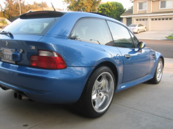 1999 BMW M Coupe in Estoril Blue Metallic over Estoril Blue & Black Nappa
