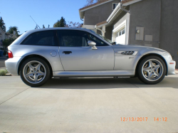 1999 BMW M Coupe in Arctic Silver Metallic over Dark Gray & Black Nappa