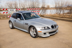 1999 BMW M Coupe in Arctic Silver Metallic over Estoril Blue & Black Nappa