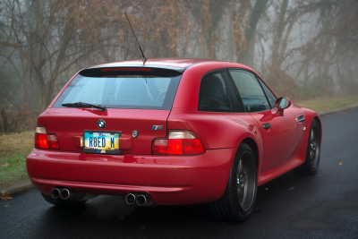 2000 BMW M Coupe in Imola Red 2 over Black Nappa