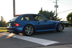 2000 BMW M Coupe in Estoril Blue Metallic over Estoril Blue & Black Nappa