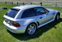 2001 BMW M Coupe in Titanium Silver Metallic over Laguna Seca Blue & Black Nappa