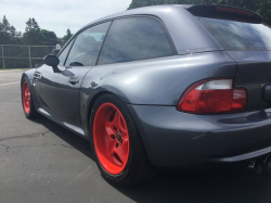 2001 BMW M Coupe in Steel Gray Metallic over Imola Red & Black Nappa