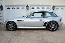 2002 BMW M Coupe in Titanium Silver Metallic over Estoril Blue & Black Nappa