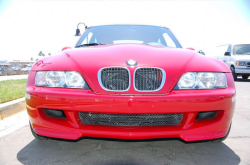 2002 BMW M Coupe in Imola Red 2 over Imola Red & Black Nappa