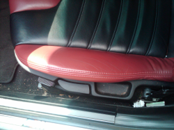 2002 BMW M Coupe in Black Sapphire Metallic over Imola Red & Black Nappa - Driver Seat Detail
